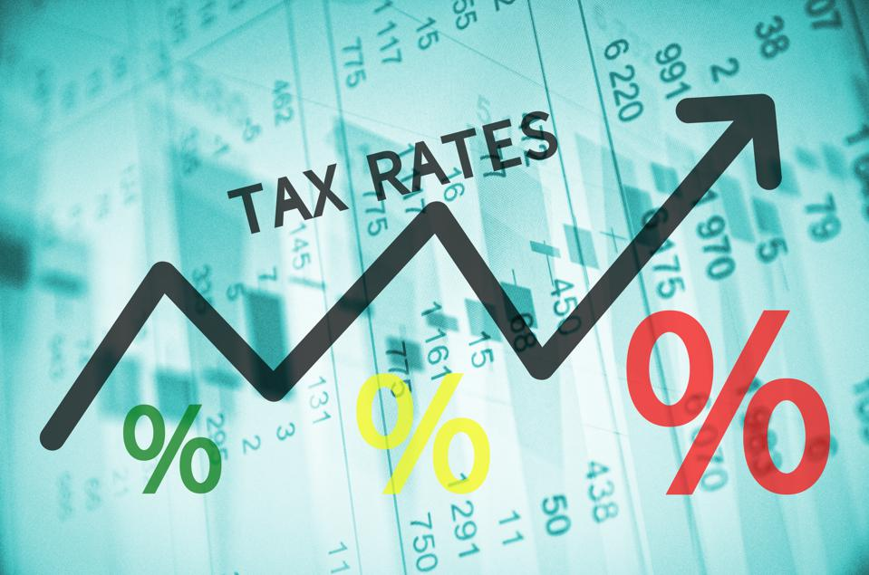 Tax Rates graph going up