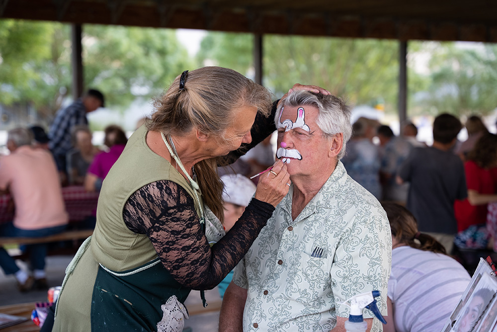 Face painting isn't just for the kiddos