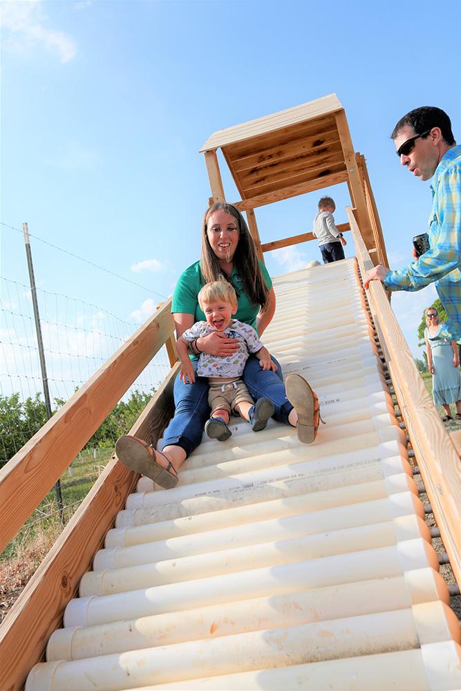 Jaimee taking on the Zion slide
