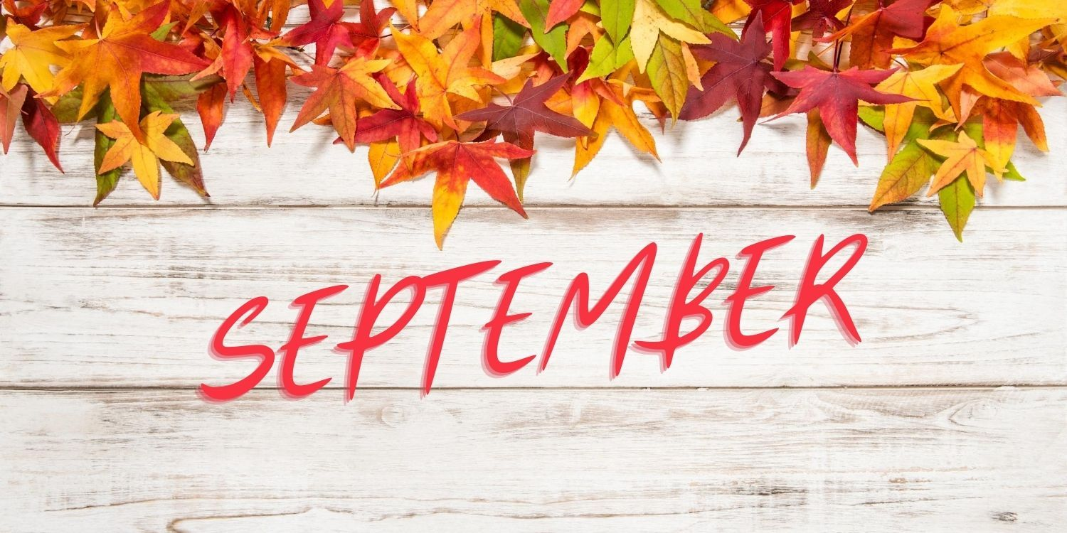 September with fall color leaves